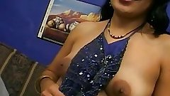 Indian Bitch oral sex two cocks